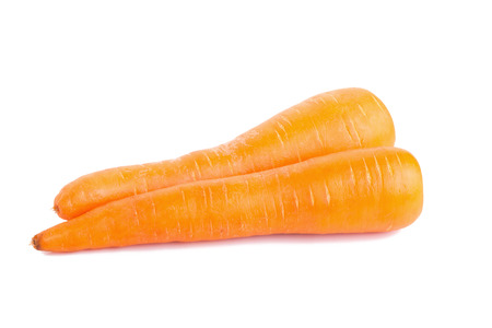 Carrots isolated on white background.