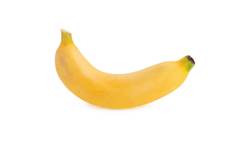 Yellow bananas on the white background