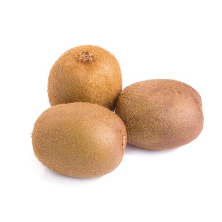 Kiwi fruit on white background.