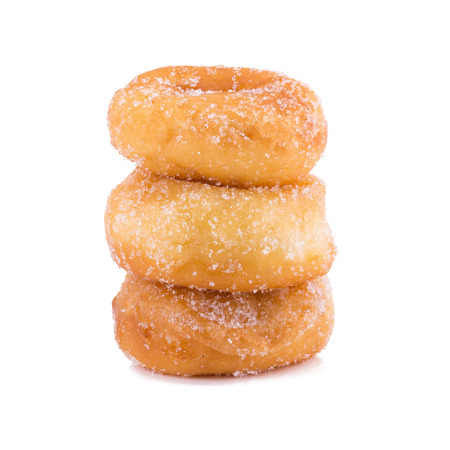 sugary: Sugary donut isolated on a white background.