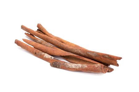white backing: Cinnamon sticks isolated on white background
