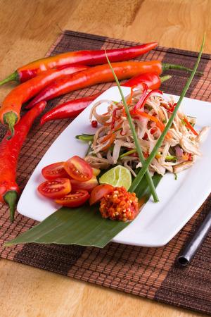 thai chili pepper: Thai food, Spicy Chicken salad