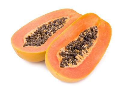 cutaneous: sweet papaya on white background