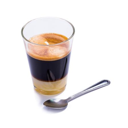 traditionele Thaise stijl warme koffie op witte achtergrond