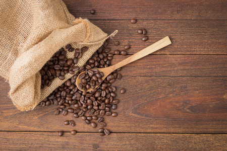 Coffee on grunge wooden background. Archivio Fotografico