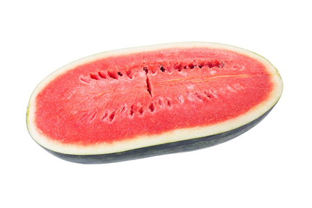frequent: juicy slice of watermelon on a white background.