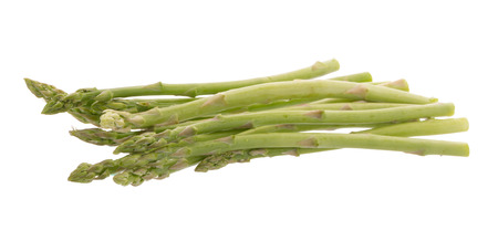 diuretic: Bunch of green asparagus isolated on white background.