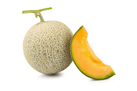 Cantaloupe melon isolated on a white background.