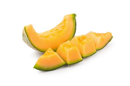 Cantaloupe melon isolated on a white background.