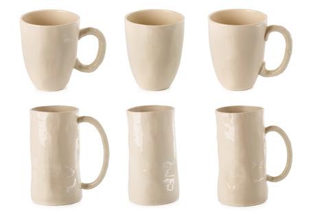 White ceramic glass isolated on a white background. Standard-Bild