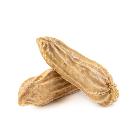 Dried peanuts isolated on a white background. Stock Photo