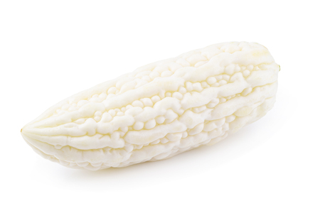 White bitter melon isolated on a white background.