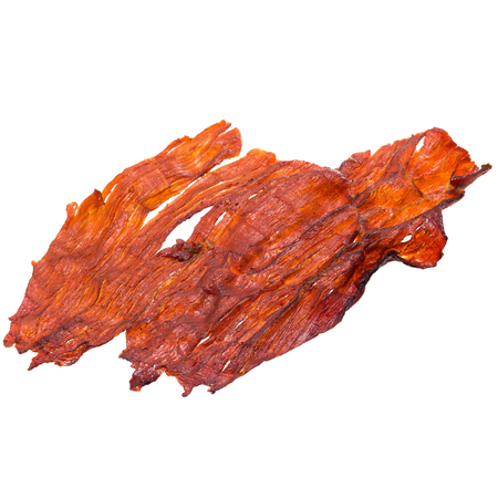 Sweet pork sheet - asian food style isolated on a white background.
