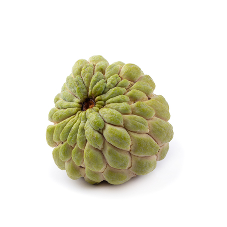 custard apple fruit isolated on a white background.