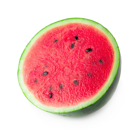 Sliced of watermelon isolated on a white background. 스톡 콘텐츠