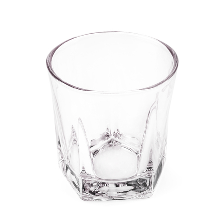 Empty glass isolated on a white background. Фото со стока