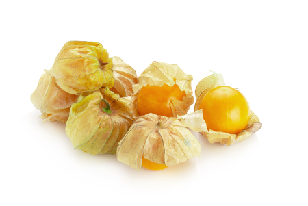 Cape Gooseberry, Physalis fruit or golden berry isolated on white background