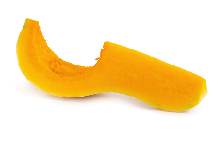 butternut squash slice isolated on white background Stok Fotoğraf