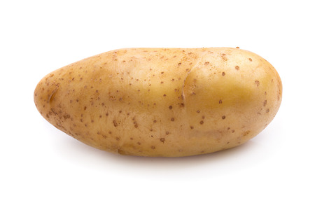 Fresh potatoes isolated on a white background.