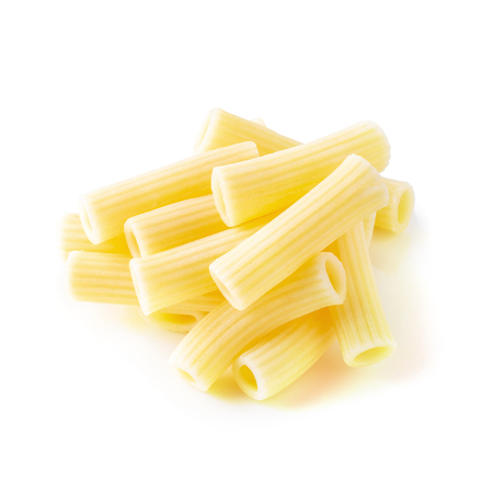 Traditional italian pasta Boil until cooked isolated on white background