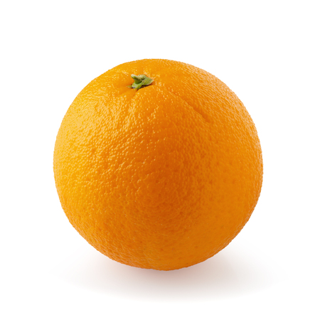 Orange fruit isolated over a white background