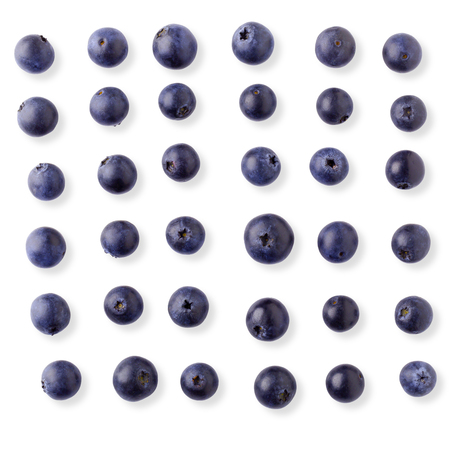 Fresh ripe blueberry isolated on a white background