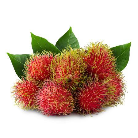 Rambutan sweet fruit isolated on white background