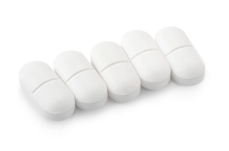 Paracetamol is an antipyretic and anti-analgesic drugs on a white background Stock fotó