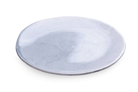 Empty blank ceramic dish isolated on white background