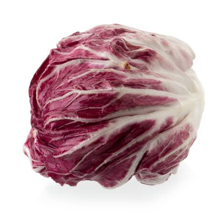 Radicchio, red salad isolated on white background. Stockfoto