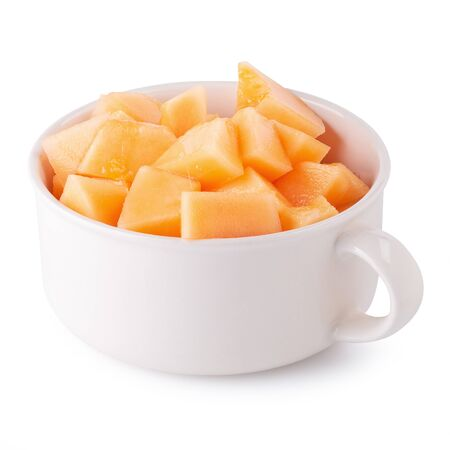 Japanese melons,honey melon or cantaloupe isolated on white background.