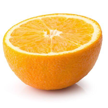 Fresh Sliced oranges isolated on white background Archivio Fotografico