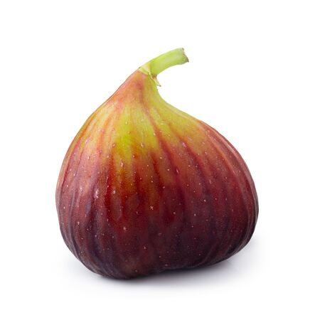 Fresh figs fruit isolated on white background. Zdjęcie Seryjne