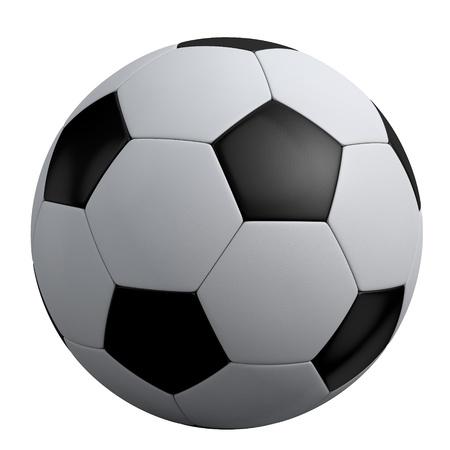 ballon foot: ballon de soccer isol� sur fond blanc