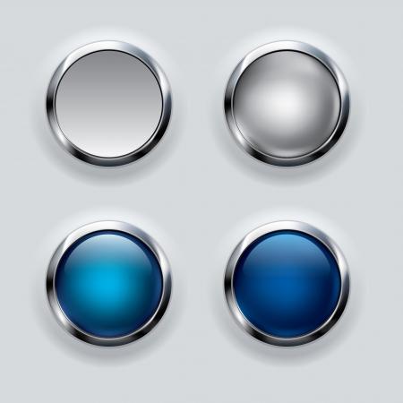 cromo: Plata y azul,
