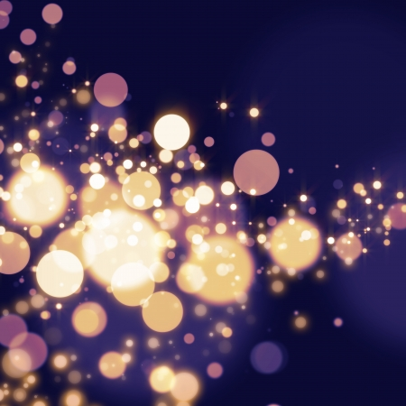 black star: Golden Abstract Bokeh light Background