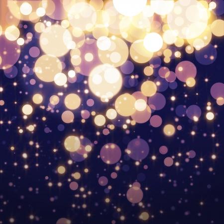 Golden Abstract Bokeh light Background