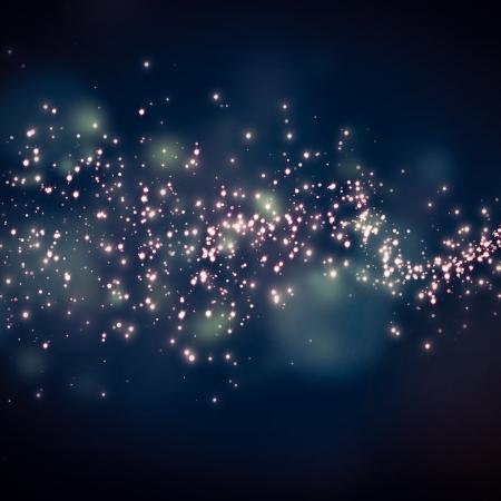 noche estrellada: estrellas brillantes en el fondo bokeh