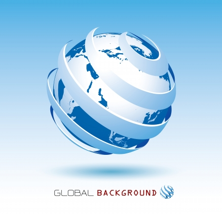 red earth: blue global background