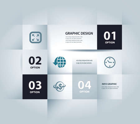 icon set: business step paper lines and numbers design template   Illustration