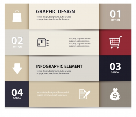 paper e commerce and numbers design template    Illustration