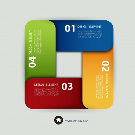 paper lines and numbers design template