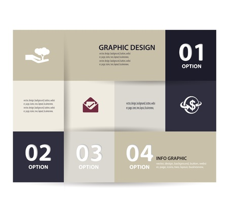 paper element and numbers design template illustration  Infographics Options