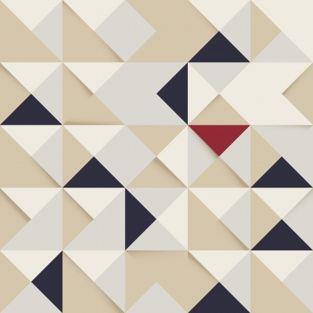 abstract triangle and Square pattern retro background for design