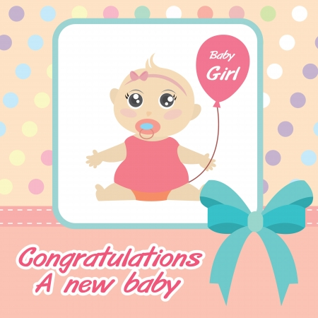 Card new born baby girl royalty free cliparts vectors and stock card new born baby girl stock vector 20559780 m4hsunfo