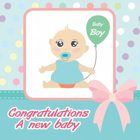 born: card new born baby boy