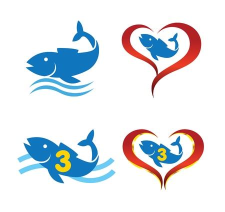 omega: omega 3 fish on heart