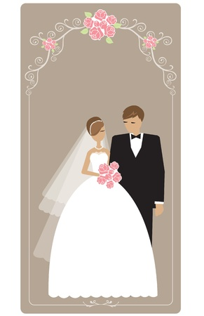 Wedding cards with space for text  Illustration