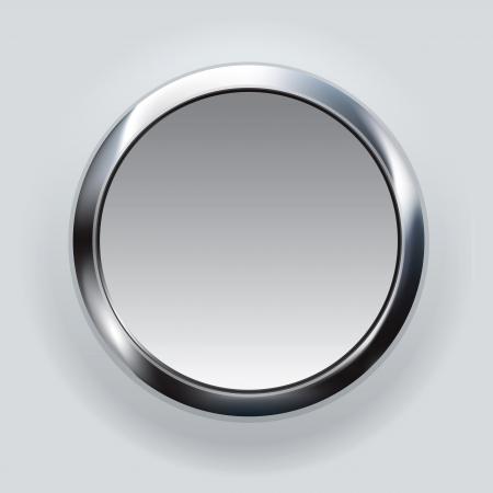 knop: zilveren knop achtergrond Stockfoto
