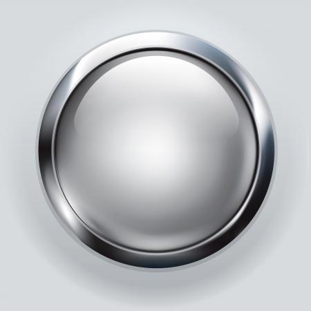 cromo: fondo de bot?n de plata
